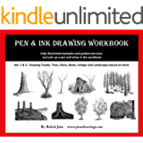 Pen and Ink Drawing Workbook vol 1-2: Learn to Draw Pen and Ink Landscapes (Pen and Ink Workbooks)
