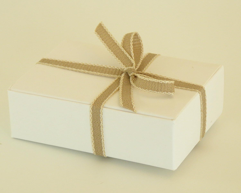 12 x blanco/papel de estraza tamaño pequeño/cajas de jabón, diseño de.: Amazon.es: Hogar