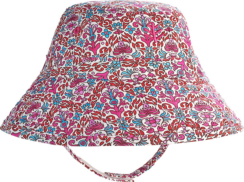 Coolibar UPF 50+ Baby Cotton Cap - Sun Protective (2T-3T- Magenta Tapestry)