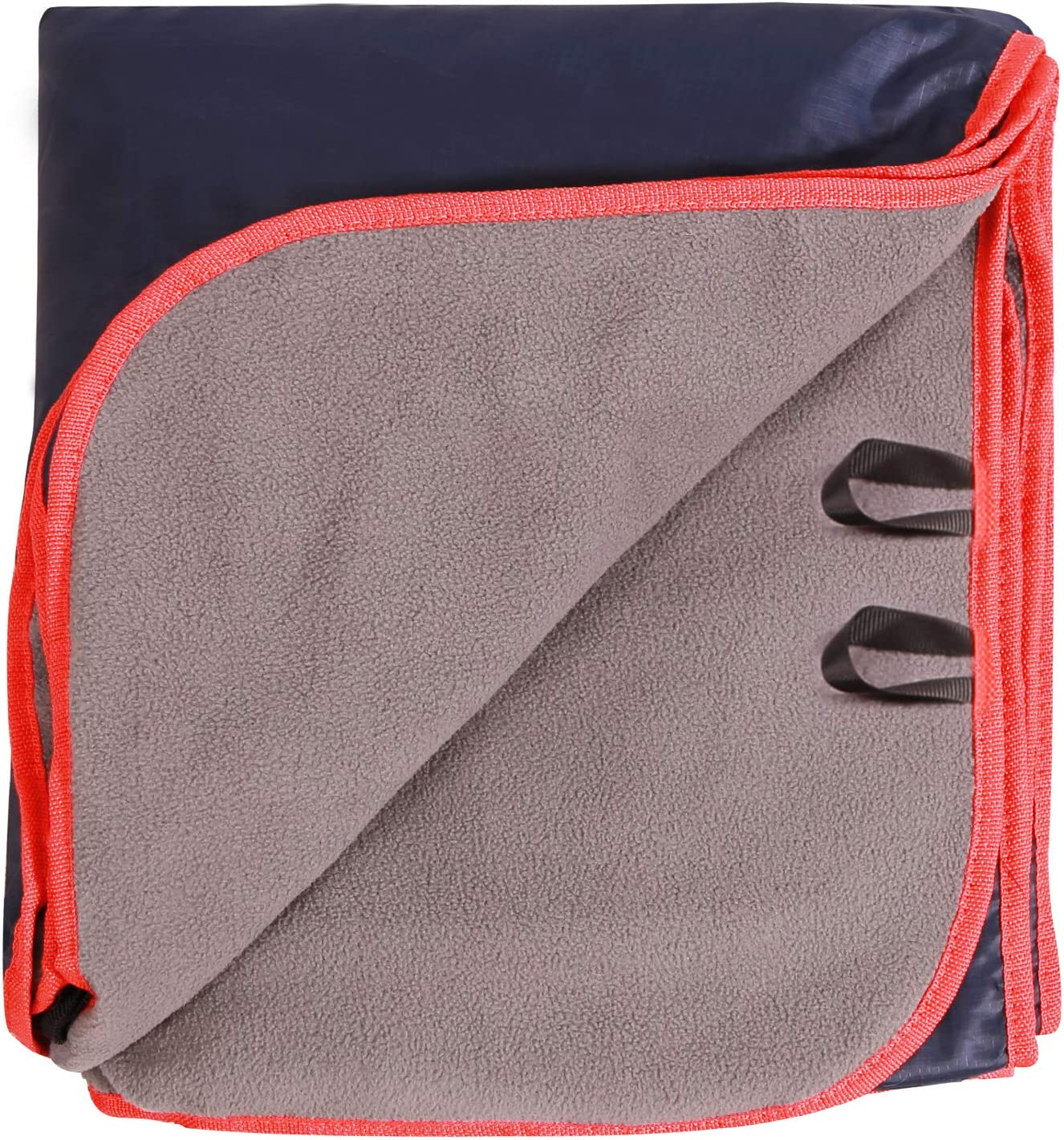 REDCAMP Large Waterproof Stadium Blanket for Cold Weather, Soft Warm Fleece Camping Blanket Windproof for Outdoor Sports, Blue: Kitchen & Dining