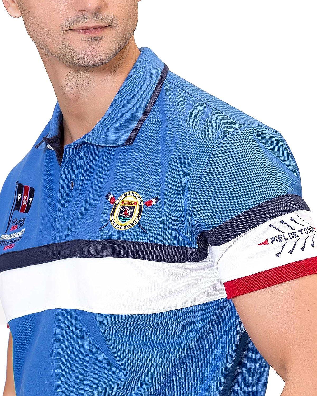 Piel de Toro Franja Horizontal INSPIRACIÓN Remo Polo, (Azul 08 ...