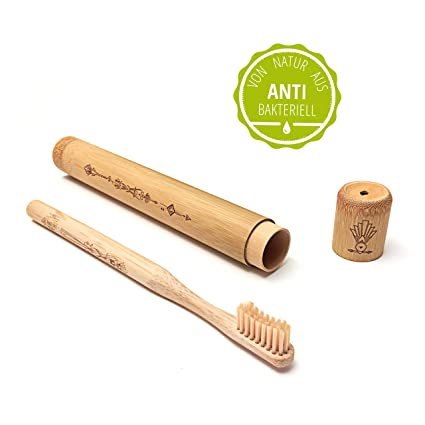 Nature Nerds, cepillo de dientes de viaje para adultos, funda incl. Cepillo