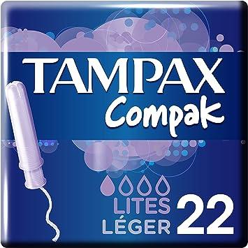 Tampax - Tampones Compak Lites, 22 unidades, Paquete de 3: Amazon ...