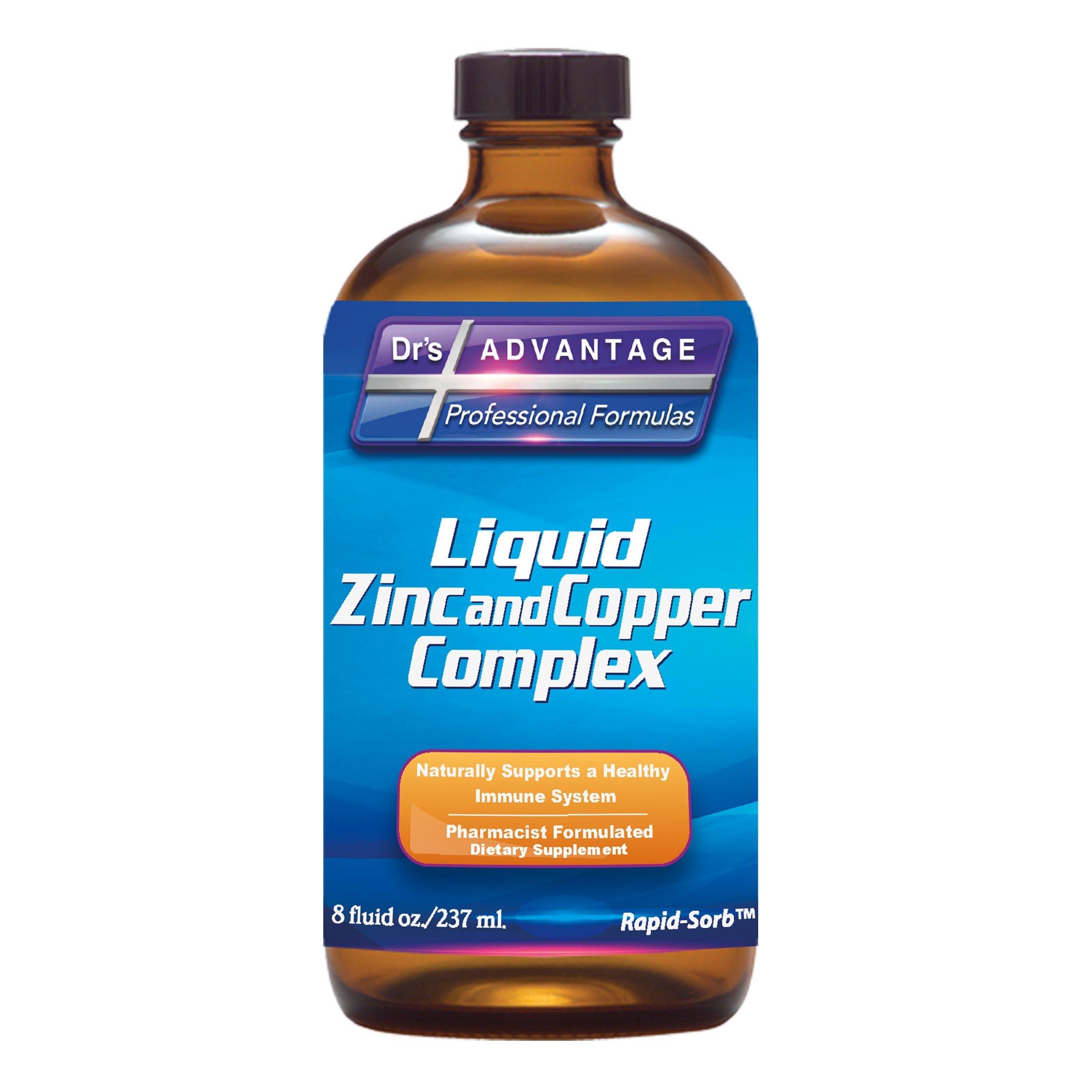 Dr's Advantage DA899 Liquid Zinc + Copper, 8 oz.