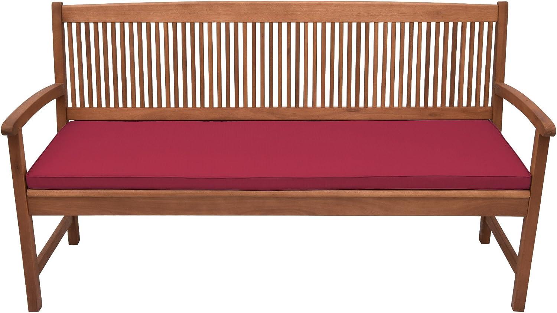 150x48x5 cm Bequeme Kissen Auflage f/ür Garten Bank mit abnehmbarem Bezug in Natur /& in div Farben w/ählbar Beautissu Base BK Bankauflage Polster ca