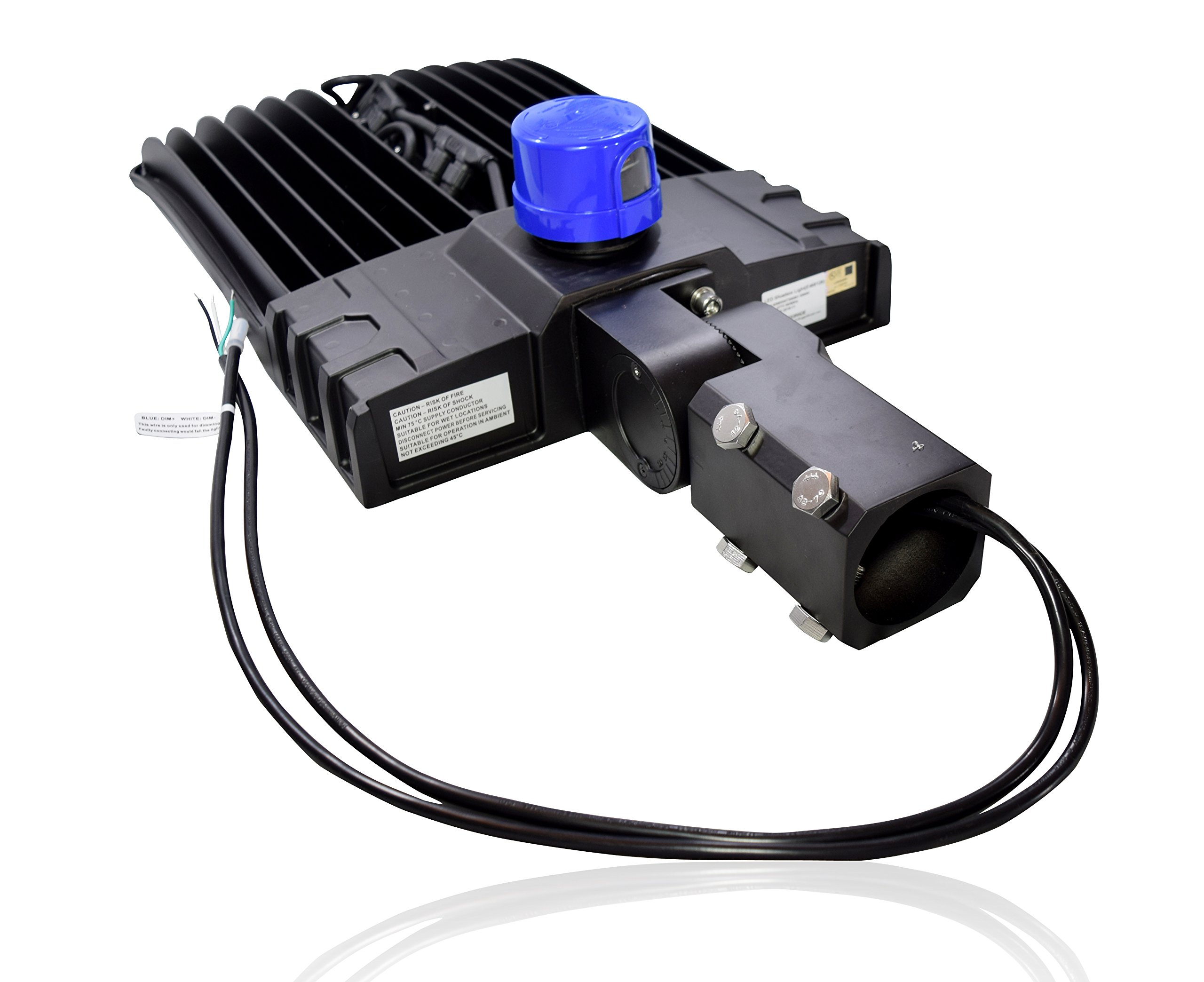 300 Watt NextGen LED Parking Lot Lights - 40,000 Lumen - Super Efficiency 130 Lumen to Watt - 5000K Bright White - Replaces 1000W Halide - LED Shoebox Lights - Slip Fit Mount - With photocell by RuggedGrade (Image #7)