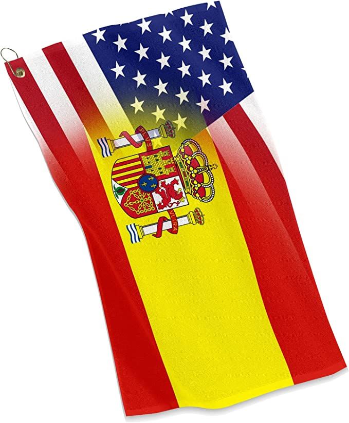 Deportes Golf/Toalla – bandera de España y Estados Unidos – Español: Amazon.es: Deportes y aire libre