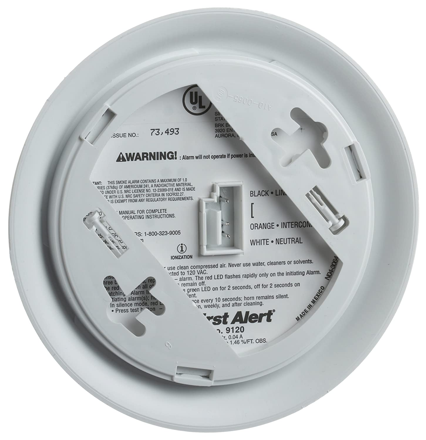 First Alert BRK 9120 Hardwired Smoke Alarm