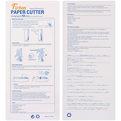 Coupe-Papier A4 12 Pouces Poir Craft Paper Trimmer Portable Guillotine Titanium Scrapbooking Tool with Automatic Security Safeguard /& Side Ruler for Handcraft Project Label Greeting Card Cut Photo