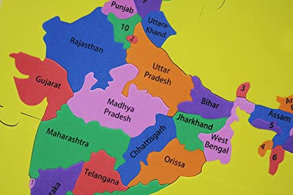 Buy Foam Puzzle India Map State Shaped - Educational Product Online ...