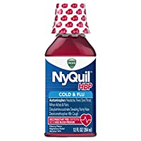 Vicks NyQuil High Blood Pressure Cold and Flu Medicine, 12 fl oz, Cherry Flavor...