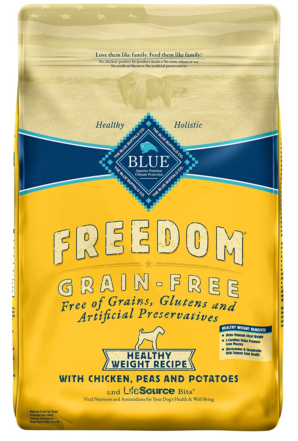 466e25012 Amazon.com  Blue Buffalo Freedom Grain Free Recipe for Dog