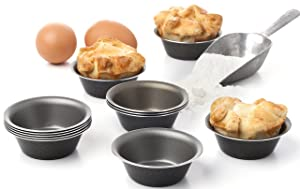 Maxi Nature Pack of 12 Mini Pie Muffin Cupcake Pans Egg Tart Bakeware - 3 Inch Tins - 12 Molds NonStick Black Bakeware
