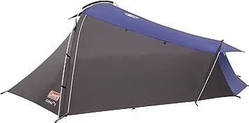 Coleman Cobra 2 Tienda de campaña de 2 plazas para trekking o senderismo, acampadas y festivales, compacta, cabe en una mochila, impermeable hasta 3000 mm de columna de agua, Verde, 2 personas: