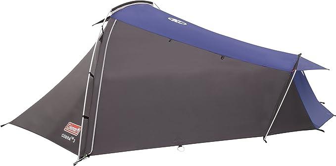 Coleman Cobra 2 Tienda de campaña de 2 plazas para Trekking o Senderismo, acampadas y Festivales, compacta, Cabe en una Mochila, Impermeable hasta ...