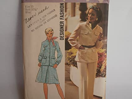 fec953b830d Image Unavailable. Image not available for. Color  Simplicity Pattern 6294 Designer  Vintage Suit