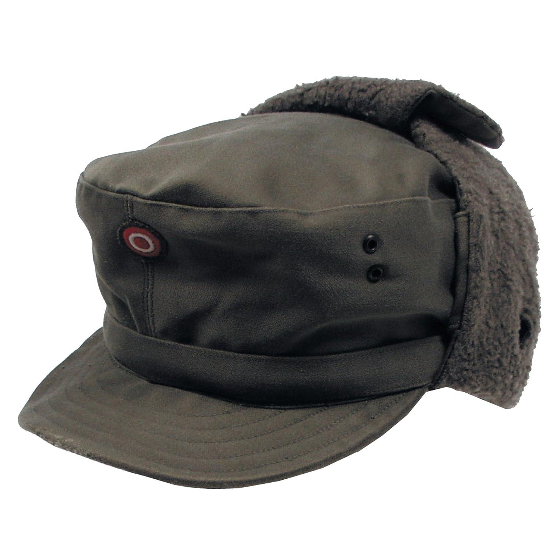 Genuine Austrian Army Olive Drab Winter Pile Cap Unused  Amazon.co.uk   Clothing 906f62484c1