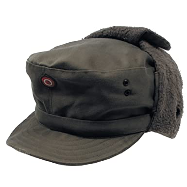 2648add54be Genuine Austrian Army Olive Drab Winter Pile Cap Unused  Amazon.co.uk   Clothing