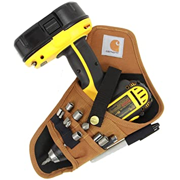 Balanced Fit for Cordless T-Drills 17 Accessory Pockets and Open Loops for Tool and Bit Storage NoCry Fast Draw Drill Holster Belt-Attachment