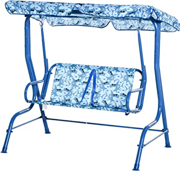 Outsunny 2-Seat Kids Canopy Swing Chair Hammock