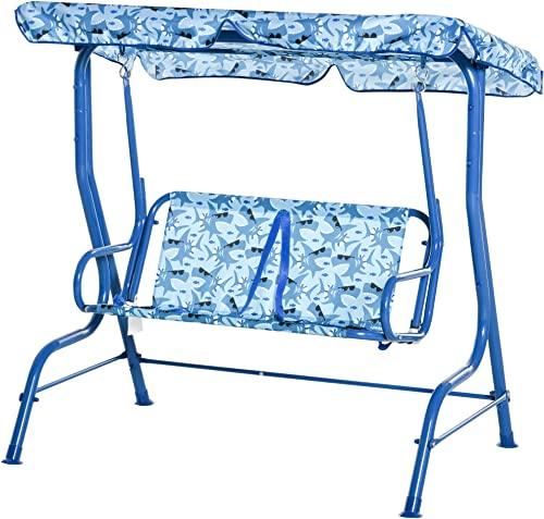 Outsunny 2-Seat Kids Canopy Swing Chair - best porch swings with canopy
