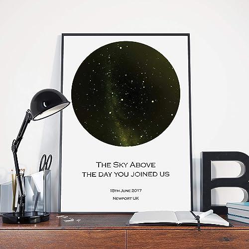 A3 Star Map Print