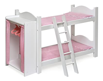 Amazoncom Badger Basket Doll Bunk Beds With Ladder And Storage