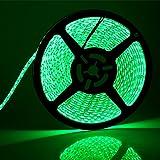 SUPERNIGHT (TM) High Density Green Waterproof Led Light Strip, SMD 3528,  5 Meter or 16 Feet LED Strip 120 Leds/M