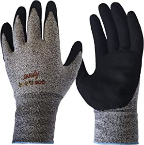 CustomGrips By SISO Safety Exclusive U50 Level 4 Cut Resistant Gloves EN388, All-Purpose Comfortable Stretch Fit, Superior Grip for Liquids & Oils, Elastic Wrist, Washable NBR Sandy Palm Coated [Small, 10 Pairs]