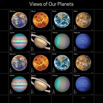 Amazon.com : Views Of Our Planets USPS Forever Postage Stamps ...