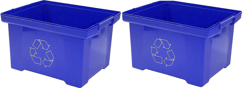 Marvelous Amazon.com : Storex 9 Gallon Recycle Bin, Blue (STX61549U01C) : Office  Products