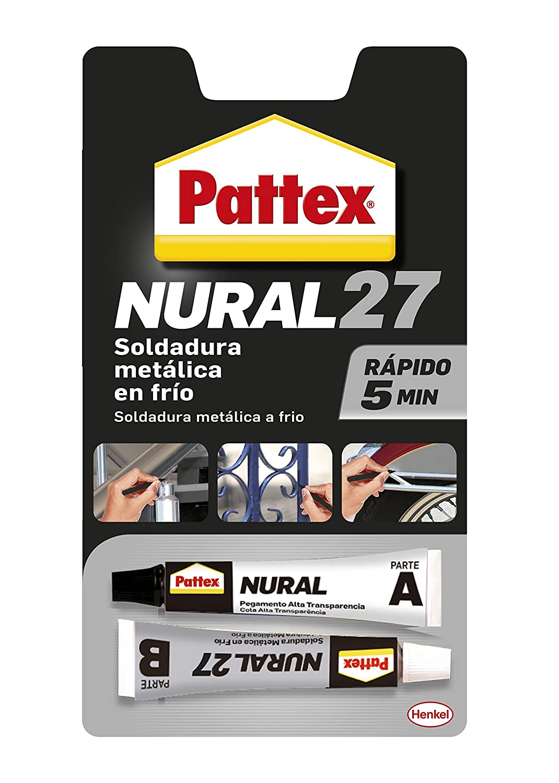 Pattex Nural 27, soldadura metá lica reparadora en frí o con secado rá pido, 22ml soldadura metálica reparadora en frío con secado rápido Henkel 30603