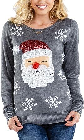 red santa sweater
