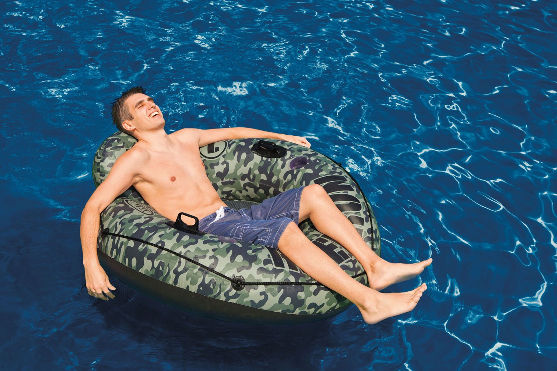 Intex Camo River Run I Inflatable Floating Tube Raft (2 Pack) | 58835EP by Intex (Image #3)