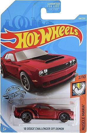 Yellow DieCast Hotwheels 18 Dodge Challenger SRT Demon 234//250 Muscle Mania 10//10