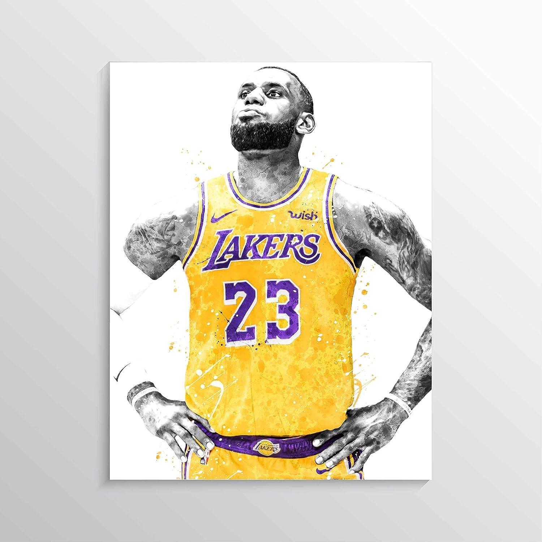 Amazon Com Lebron James Print Lebron James Poster Los Angeles Lakers Poster Nba Poster Basketball Wall Art Basketball Decor Watercolor Print Handmade