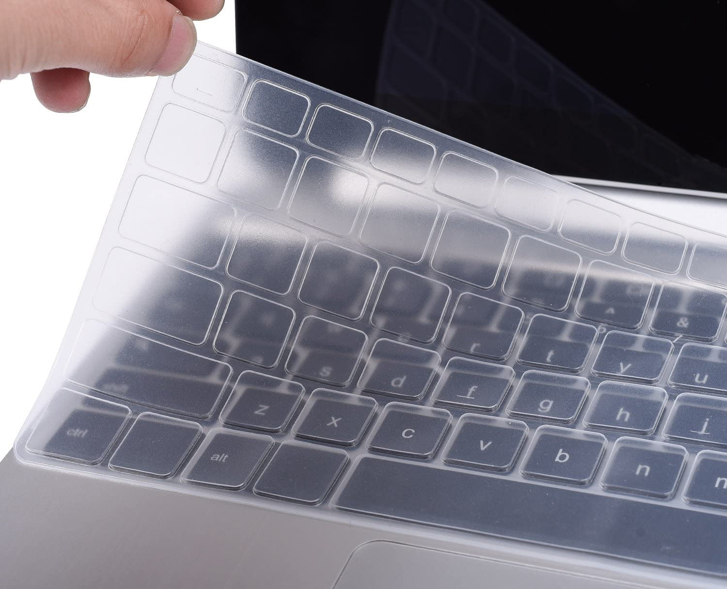 "CaseBuy Ultrathin Silicone Keyboard Protector Cover Skin for 11.6"" Dell Inspiron 11-3162 11-3168 11-3169 11-3179 11-3180 11-3185 i3162 i3168 i3169 i3179 i3180 i3185 Laptop US Layout (Clear)"