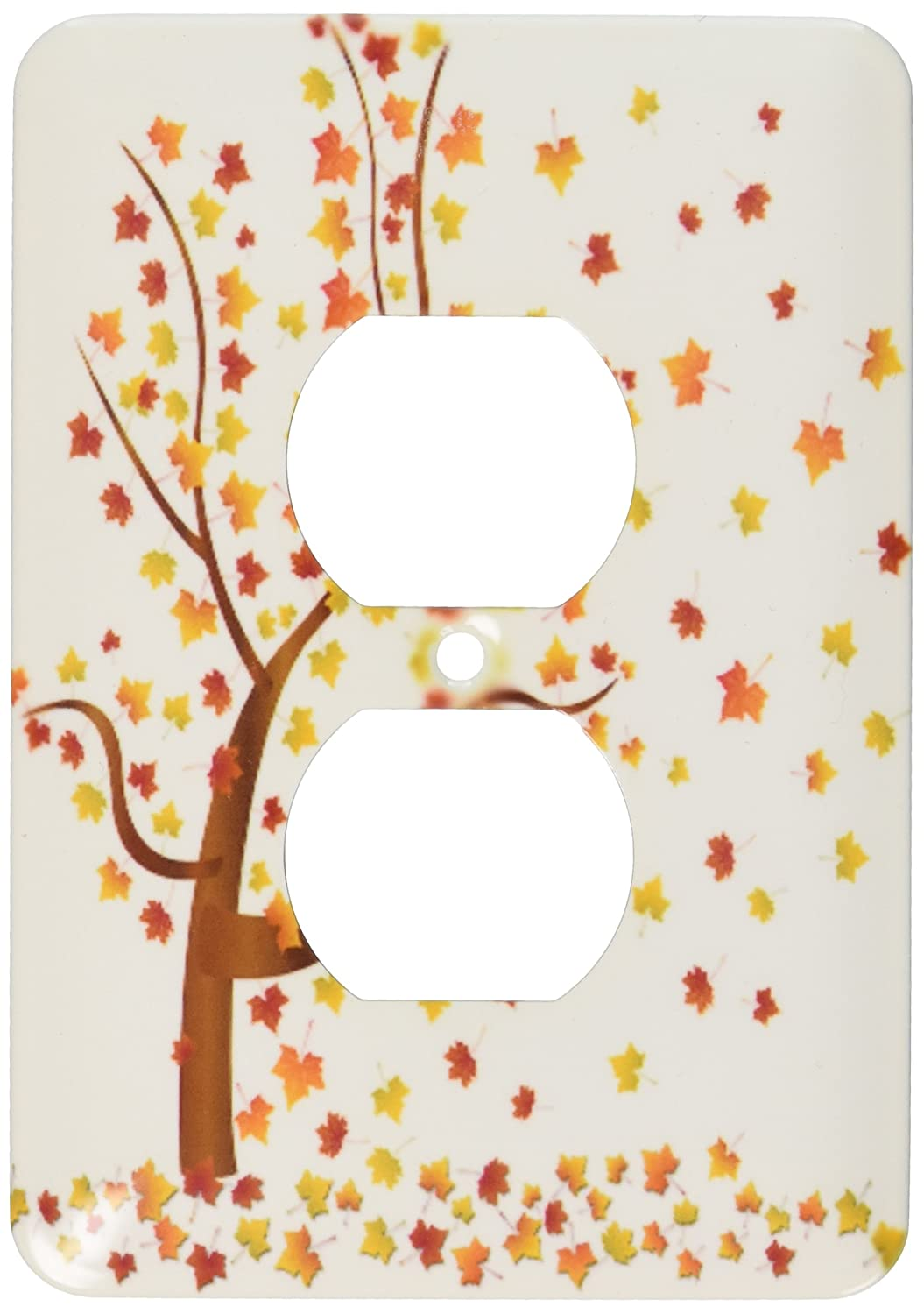 3dRose lsp/_62989/_6Fall Tree with Leaves 2 Plug Outlet Cover