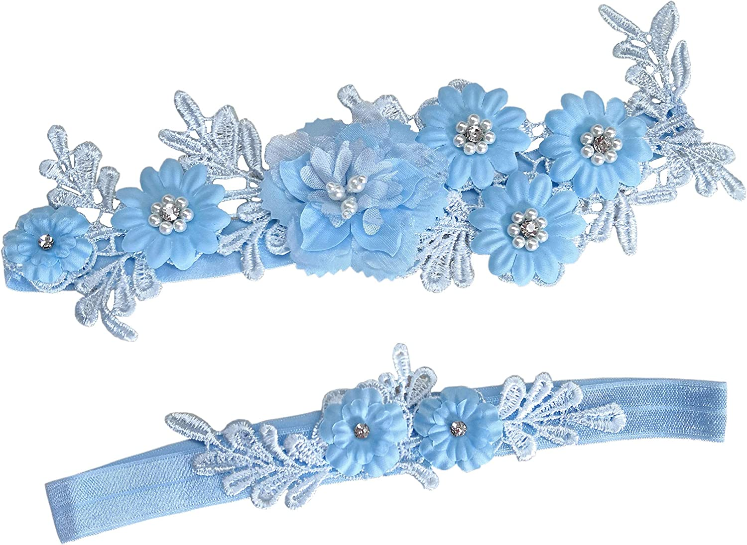 Wedding Garters for Bride Wedding Garter Set Bridal Garters Flower Garter P49