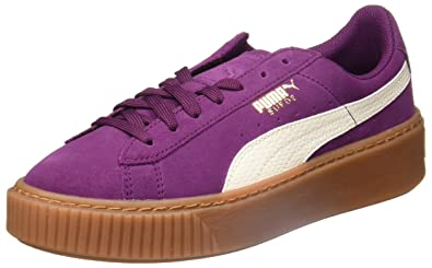 sports shoes 698c5 ee7de Amazon.com | PUMA - Suede Platform - 36390603 - Color ...