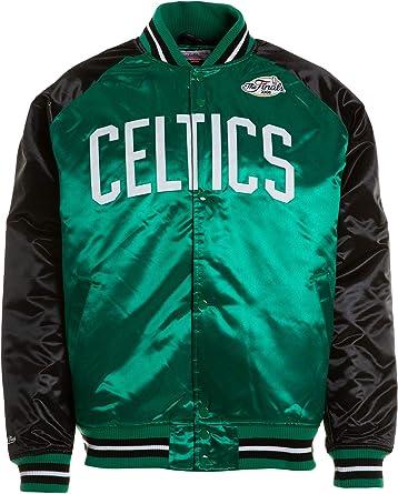 Mitchell & Ness Boston Celtics NBA HWC Tough Season Satin Jacket Bomber College Jacke