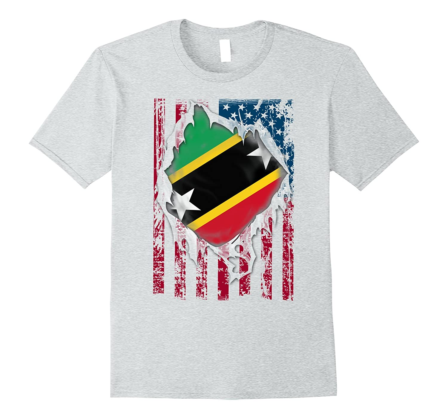 d4ee5ebf Saint Kitts and Nevis distressed flag proud T-Shirts-CL – Colamaga