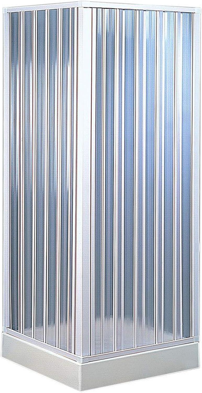 Fuerte bkp102001 – ducha angular 110 – 80 X 110 – 80 reducible, Color blanco: Amazon.es: Bricolaje y herramientas