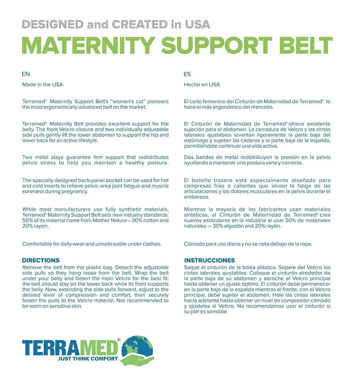Amazon.com: Terramed Breathable Elastic Maternity Back Support Belt (Ergonomically Reinforced Pregnancy Belly Brace for Lower Back) (XX-Large, ...