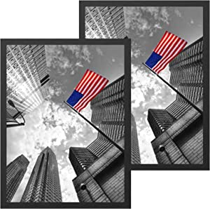 18x24 Frame Black Aluminum, 18x24 Poster Frame With Wall Mounting Hardward, 2 Pack