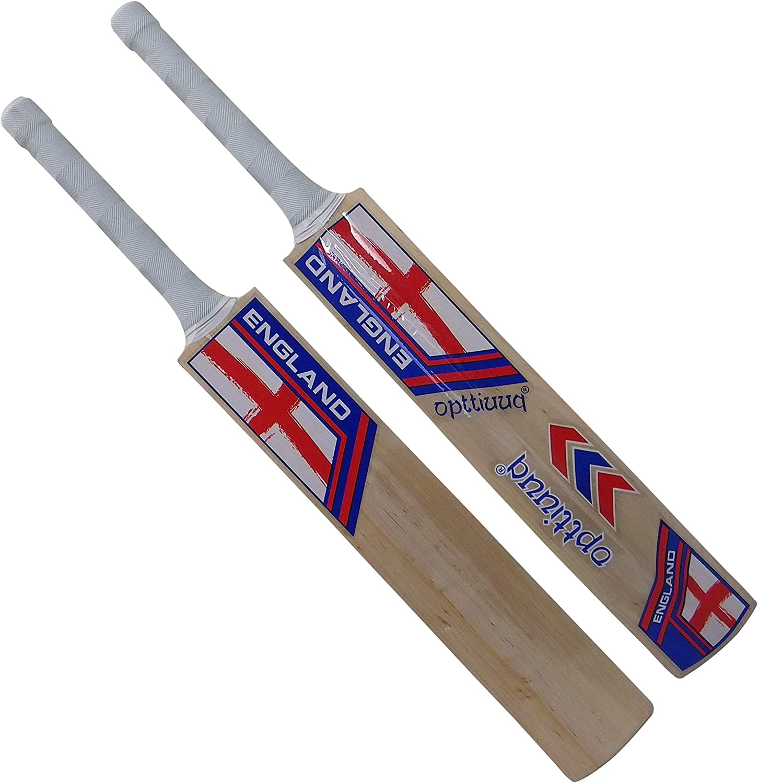 Opttiuuq England Kashmir Willow Cricket Bat ADULTS