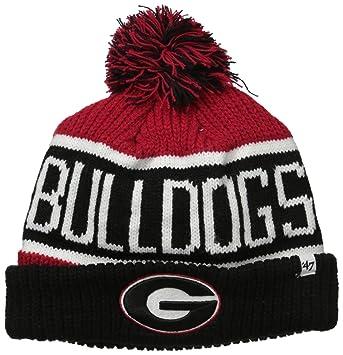 NCAA Georgia Bulldogs Mens  47 Calgary Cuff Knit Hat with Pom 47 Calgary  Cuff Knit Hat with Pom f5c136355b5