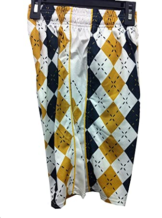 c4b58ccc Amazon.com: Lacrosse Gear Argyle Navy/Gold Lax Mesh Short Adult Medium:  Sports & Outdoors