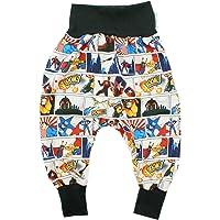 Kleine Könige Pantalones Bombachos para bebé, Modelo Superheld, Color Negro, con Certificado Ökotex 100, Tallas 50-128
