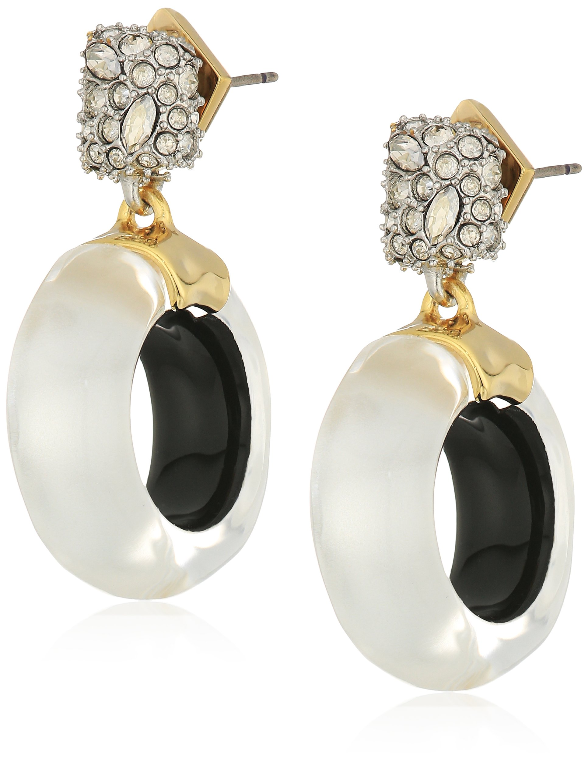 Alexis Bittar AB73E014075 Fall 2017 Domed Drop Circle Post Polished Silver Drop Earrings